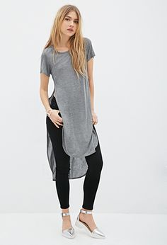 High-Slit Tee Dress | FOREVER21 - 2000136249