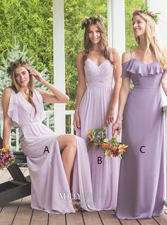 Lilac Chiffon Bridesmaid Dresses, Mismatched Bridesmaid Dresses, Cheap Long Bridesmaid Dresses Online, sold by Oktypes. Shop more products from Oktypes on Storenvy, the home of independent small businesses all over the world. Ruffles Bridesmaid Dresses, Beautiful Bridesmaid Dresses, Bridesmaid Dresses Online, Wedding Bridesmaids, Chiffon Dresses, Cheap Homecoming Dresses, Long Dresses, Dress Long, Party Dresses