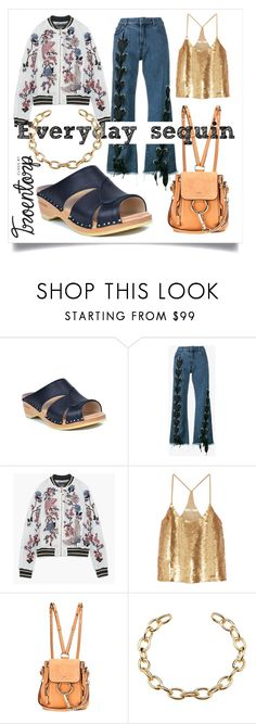 """""""Everyday Sequin"""" by troentorp ❤ liked on Polyvore featuring Troentorp, Marques'Almeida, TIBI and Chloé"""