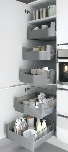 New kitchen pantry ideas cabinets Ideas Kitchen Drawers, Kitchen Pantry, New Kitchen, Kitchen Storage, Pantry Cabinet Ikea, Miele Kitchen, Kitchen Cabinets, Cabinet Storage, Pantry Storage