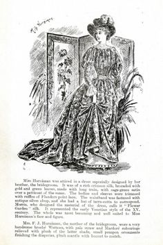 A sketch of Annie Horniman, sister of Emslie Horniman, in the dress she wore to her brother's wedding.