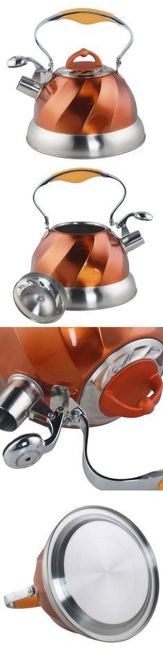 Tea Kettles 133705: Riwendell Stainless Steel Whistling Tea Kettle 2.6-Quart Stove Teapot Copper New -> BUY IT NOW ONLY: $43.99 on eBay!