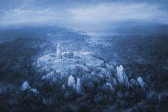 Yaroslav Gerzhedovich.  Foggy landscape.