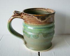 Handmade Mug Pottery Coffee Mug in Green and by riverstonepottery, $28.00