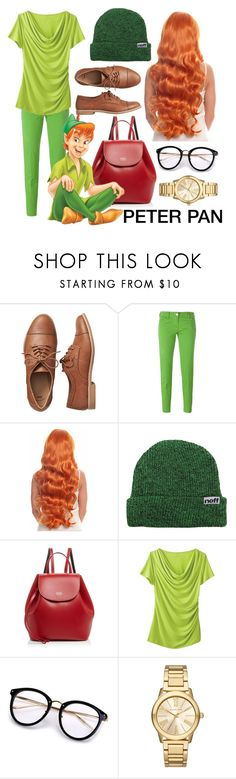 """Peter Pan Back to School"" by pauirh ❤ liked on Polyvore featuring Gap, Jacob Cohёn, Neff, Frances Valentine, TravelSmith and Michael Kors"