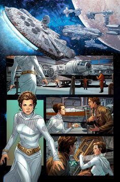 Star Wars - Han Solo #5 interior art by Mark Brooks *