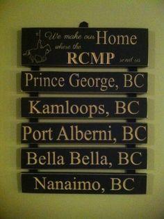 RCMP Posting Sign. www.coastalimpressions.ca