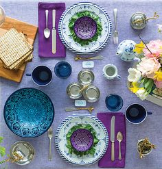 Eye-catchingly colorful spring table.