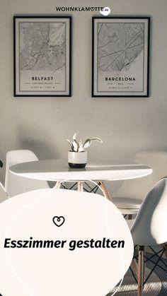 Die Gestaltung des Essbereichs beginnt mit der Grundausstattung des Raums und setzt sich mit der Auswahl der Esszimmermöbel fort. Mit geschickt platzierten Lichtquellen und einer passenden Dekoration schaffst Du ein behagliches Ambiente – hier bekommst Du hilfreiche Inspirationen. Inspiration, Home Decor, Homes, Essen, Dekoration, Biblical Inspiration, Decoration Home, Room Decor, Home Interior Design