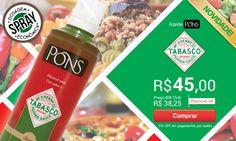 Confira novo Azeite PONS TABASCO: http://www.buywine.com.br/hotsite/tabasco