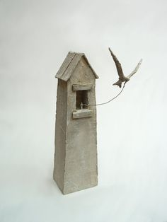by Antoine Josse Clay Houses, Ceramic Houses, Ceramic Clay, Ceramic Pottery, Art Houses, Modern Art Sculpture, Pottery Houses, Building Art, Paperclay