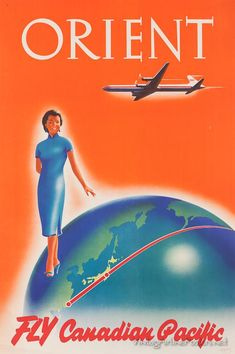 Canadian Pacific Airlines #vintage #travel #poster