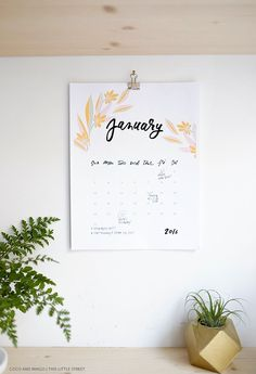 Coco & Mingo: For the new year // 2016 Printable Calendar (Free!)