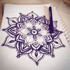 Mandala design sketched and then inked over. Amy Gilbert: Eye Candy Tattoo Design. Follow me on Instagram! eyecandytattoodesign