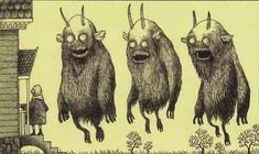 Artist John Kenn does creepy art on post it notes. Monster Art, Creepy Monster, Monster Drawing, Arte Post It, Post It Art, Rpg Horror, Horror Art, Creepy Drawings, Creepy Art