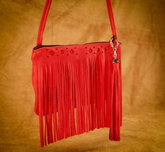 Rectangle Fringe purse. #leather #Canada #handmade #Rockwood #Ontario #like #daily #fashion #hidesinhand Fringe Fashion, Fringe Purse, Red Turquoise, Fringe Trim, Tan Leather, Daily Fashion, Canada, Handbags
