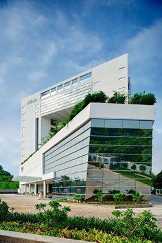♂ Green roof top modern architecture design Hotel Avasa / Nandu Associates