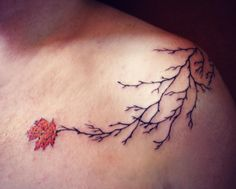 Fall in Love With These Autumn Tattoos - Dewy Leaves | Guff