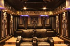 Art Deco Home Theater - contemporary - media room - new york - Home Theater Lifestyles
