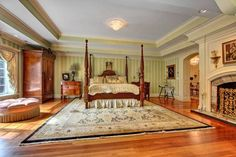 260 Homestead Lane, Fairfield, CT. Timeless elegance set on breathtaking 7 private acres on lovely Greenfield Hill cul-de-sac. Exquisite European Craftsmanship, ultra high-end mill work & architectural detail, accentuates every possible amenity. Contact Annette Palmieri for more info. 203-258-2643 or annette.palmieri@raveis.com #mastersuite #masterbedroom #realestate