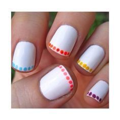 Here is a quick and easy nail design! 1. Base coat 2. Then any white polish will do. 3.i used the ball tools or u could use nail art pens. Thoughts?? Comment bellow
