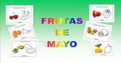 Frutas en Mayo. Aprender y colorear