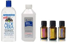 Fight Flu Season! Make Your Own Healthy Hand Sanitizer | One Good Thing by Jillee  1/3 cup aloe vera 100% gel no color  2/3 cup 99% isopropyl alcohol & 8-10 drops essential oil. Mix & Put into bottle & shake.