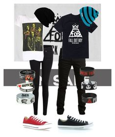 """""""His and Her Fall Out Boy outfits"""" by panic-at-the-disco-girl ❤ liked on Polyvore"""