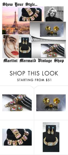 """Show Your Style..."" by martinimermaid ❤ liked on Polyvore featuring Schiaparelli, Lily Jean and vintage"