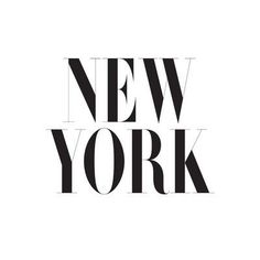 New York #typography