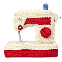 Boîte à musique crochet coton bio fait main Machine à coudre