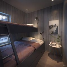Hills Ski in Ski Out Apartments / Stöten, Sälen Norway House, Bed Nook, Built In Bunks, Bunk Rooms, Guest Bedrooms, House Design, Interior Design, Home Decor, Double Bunk
