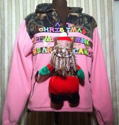This Santa Situation: | 13 Ugly Holiday Sweaters That Are Almost Too Ugly To Wear Ugly Holiday Sweater, Ugly Sweater, Christmas Sweaters, Foam Letters, Christmas Games, Being Ugly, Santa, Seasons, Pullover