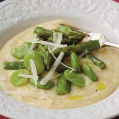 tryffeldoftande polenta med sparris