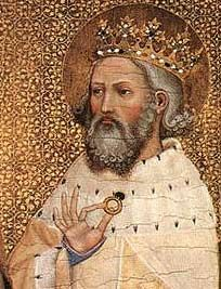 Edward the Confessor, 1042-66. Brought up in exile in Normandy, Edward lacked military ability or reputation. His Norman sympathies caused tensions with one of Canute's most powerful earls, Godwin of Wessex, whose daughter, Edith, Edward married in 1045 (the marriage was childless).