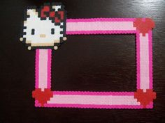 Hello Kitty Perler Frame by yumeleona23 on deviantart