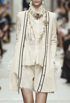 This is a double pin for me, but this is a nice close-up Details photo of Chanel Cruise 2014. Still say I'd either drop this cardigan or put something else with it, but I love it overall!