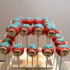 dr seuss birthday ideas | Dr. Seuss triple chocolate pops | Dr. Seuss Birthday Ideas