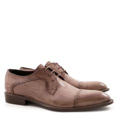 Handmade semi brogues derby shoes for men - Italian Boutique €304