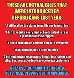 Intelligent people should be ashamed to say they are Republican