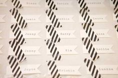 Washi escort cards