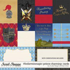 Prince Charming digital scrapbooking #believeinmagic: Prince Charming Cards by Amber Shaw & Studio Flergs