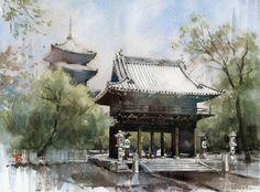 Kazuo Hasegawa  #artgallery #watercolorpainting #aquarelle