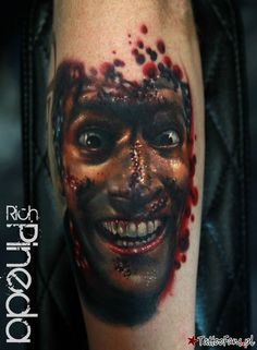 Evil Dead Tattoo By Rich Pineda