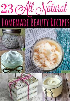 Whether you're looking for a great DIY Gift Idea, to save money on your beauty products or to kick chemicals out of your life, these 23 All Natural Homemade Beauty Recipes are just what you're looking for!