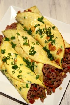 Minced Beef Egg Burritos - Dish by Dish