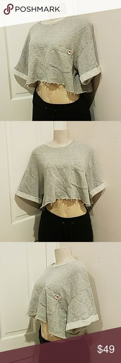 566b1c6672a Wildfox science layering crop top sweatshirt small Vintage lace size small  Wildfox Tops Crop Tops Vintage