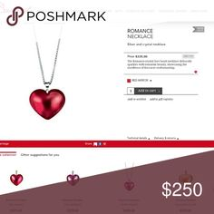 1day sale! NWT in box Bacarat Romance Necklace Previous glass mirror red heart on sterling silver chain New ** never been used!! Just received as gift but not my style..would rather have someone who will enjoy it take it home..Size  Chain:37.1-41.3cm  Pendant:1.6cm x 1.5 cm  Weight:5.8g bacarat Jewelry Necklaces