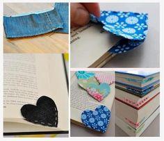 Marcadores de livro com tecido - ideia diferente e criativa