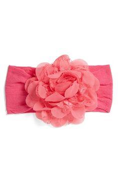 Baby Bling Lace & Chiffon Flower Headband (Baby Girls) | Nordstrom